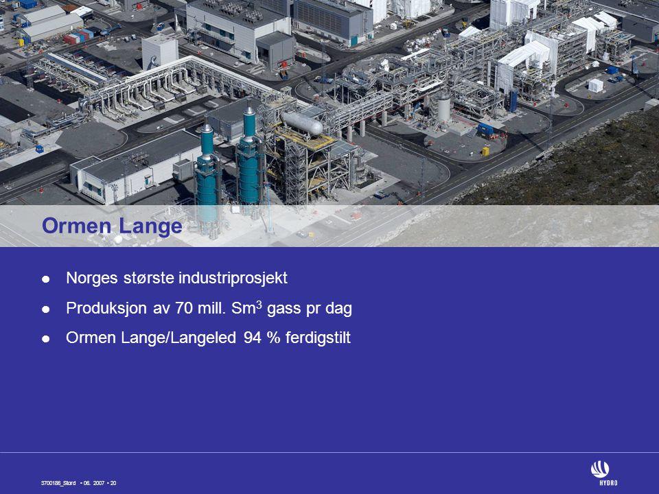 Ormen Lange Norges største industriprosjekt