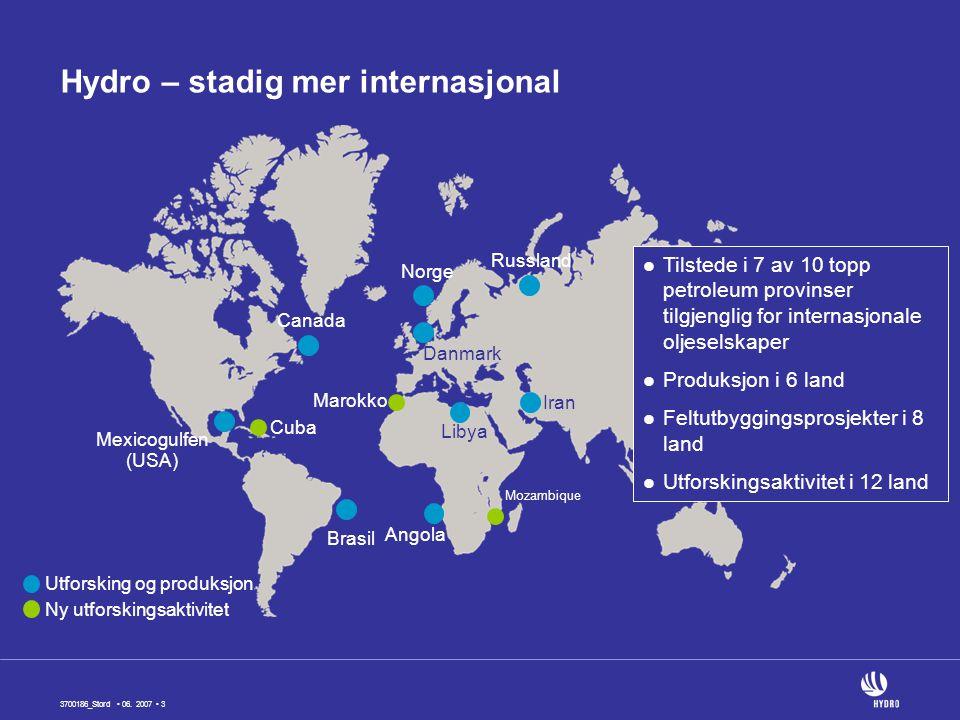 Hydro – stadig mer internasjonal