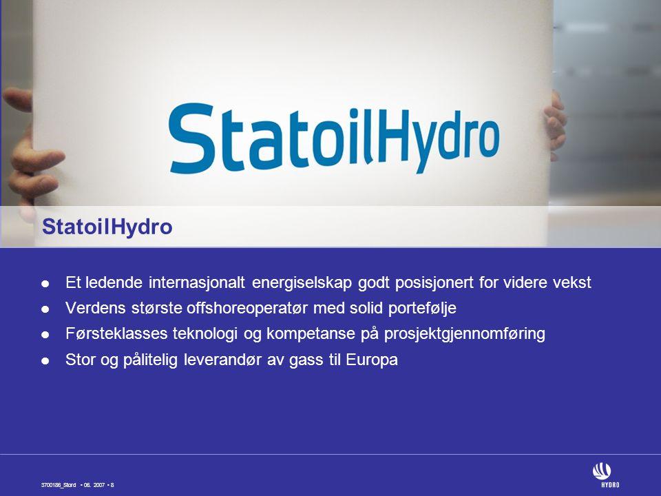 StatoilHydro Et ledende internasjonalt energiselskap godt posisjonert for videre vekst. Verdens største offshoreoperatør med solid portefølje.