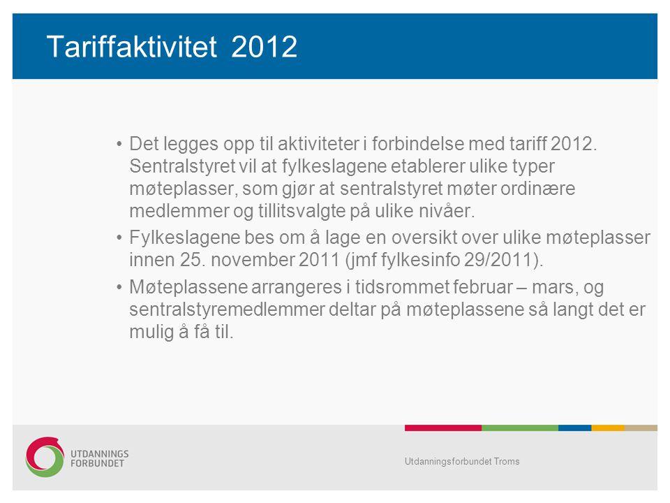 Tariffaktivitet 2012
