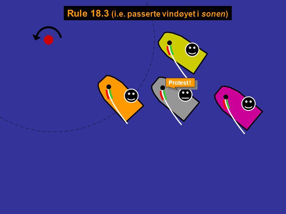 Rule 18.3 (i.e. passerte vindøyet i sonen)