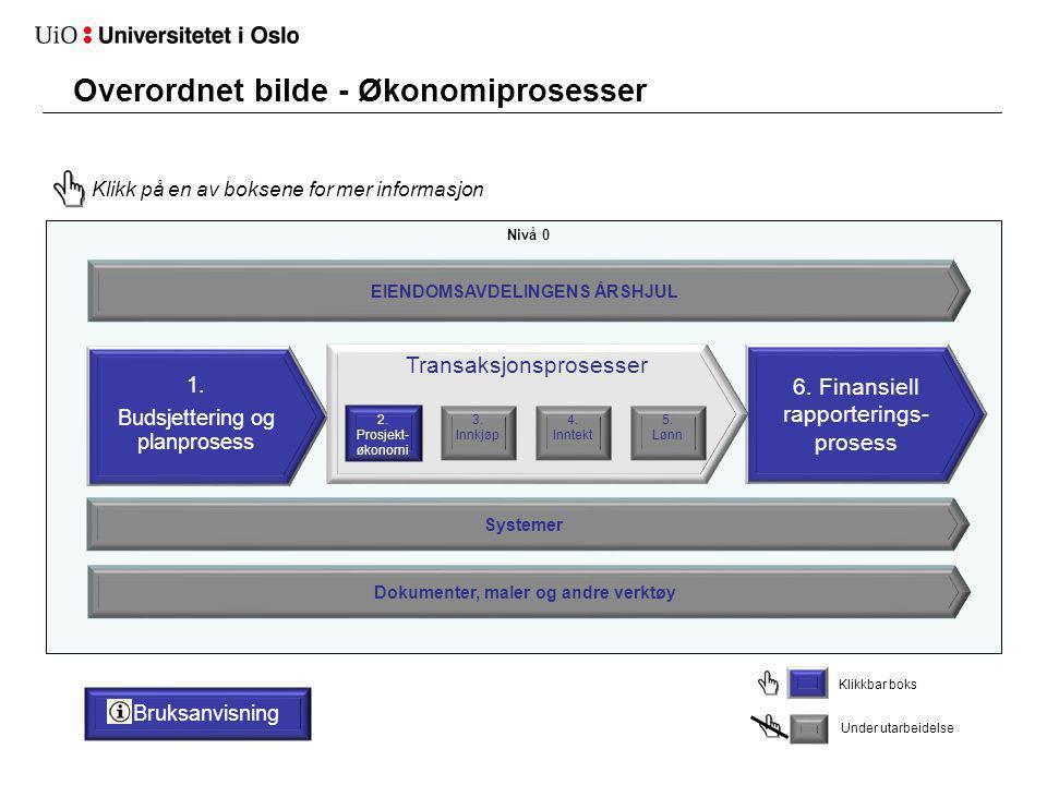 Overordnet bilde - Økonomiprosesser