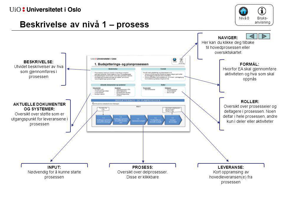 Beskrivelse av nivå 1 – prosess