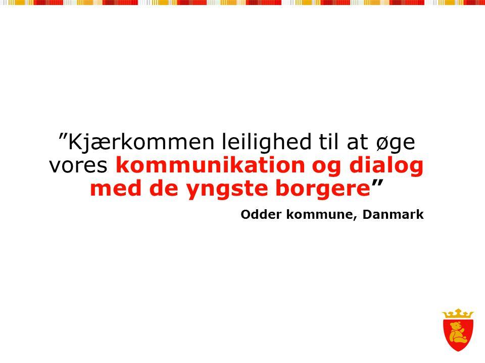 Kjærkommen leilighed til at øge vores kommunikation og dialog med de yngste borgere Odder kommune, Danmark