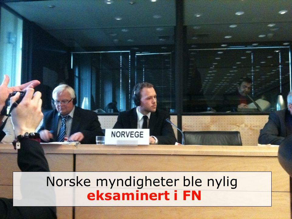 Norske myndigheter ble nylig