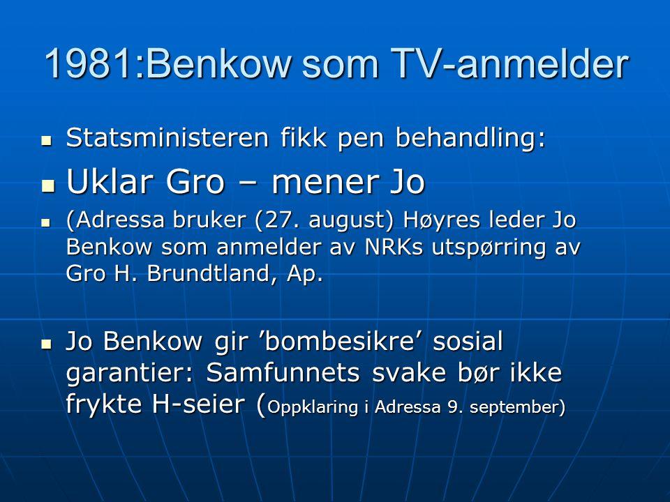 1981:Benkow som TV-anmelder