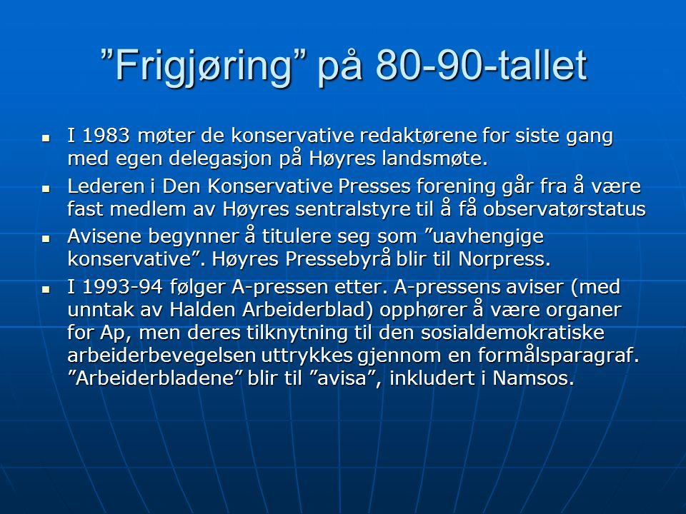 Frigjøring på 80-90-tallet