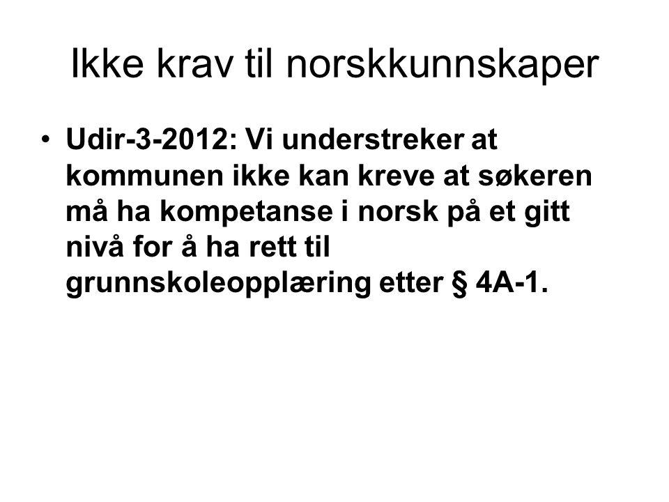 Ikke krav til norskkunnskaper
