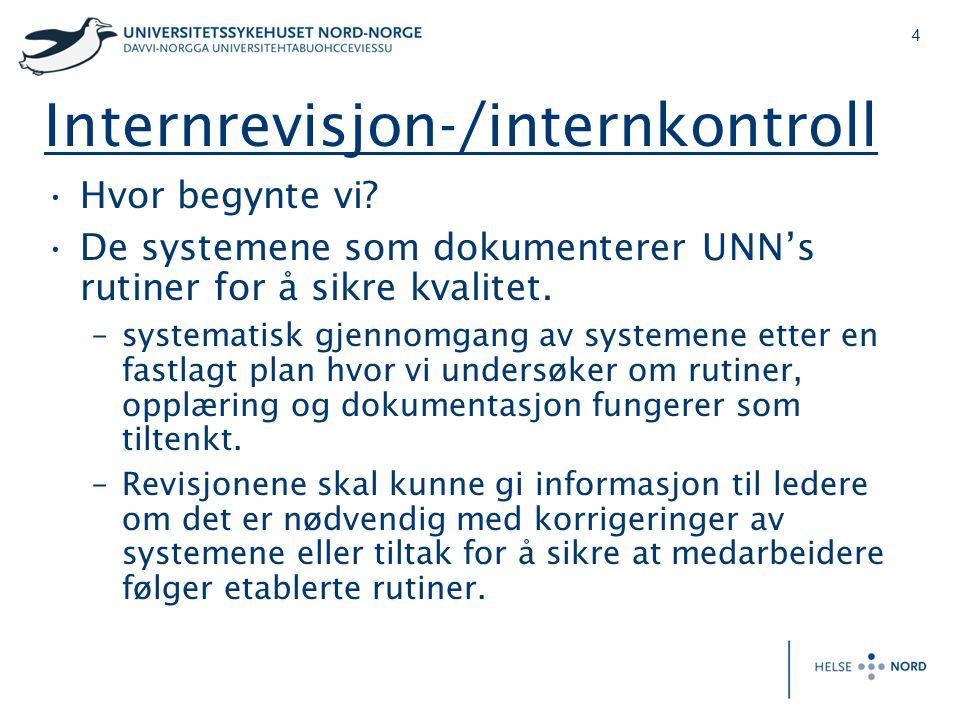Internrevisjon-/internkontroll