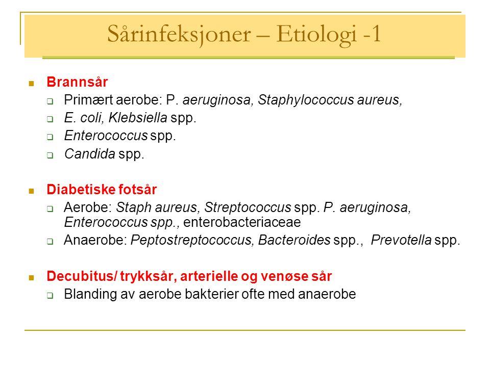 Sårinfeksjoner – Etiologi -1