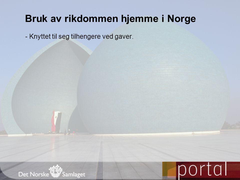 Bruk av rikdommen hjemme i Norge