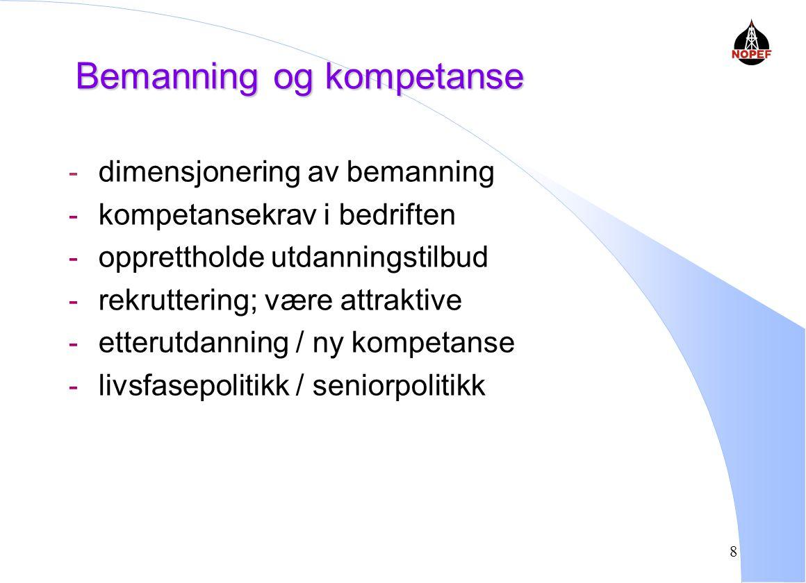 Bemanning og kompetanse