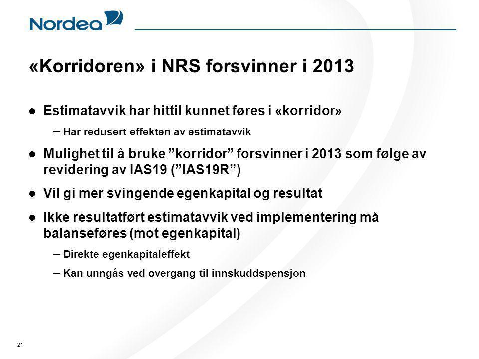 «Korridoren» i NRS forsvinner i 2013