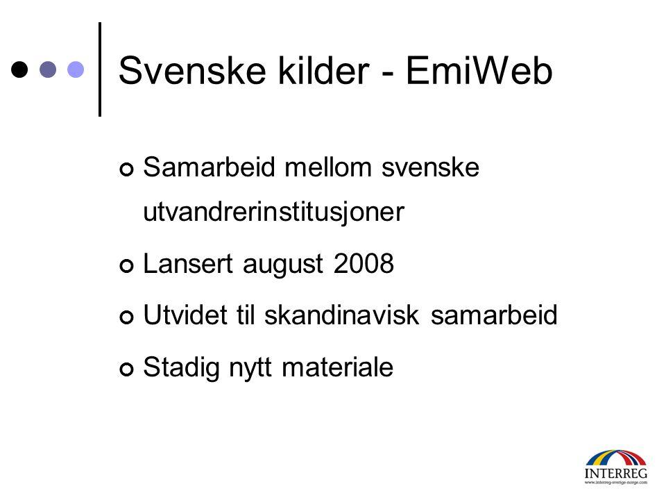 Svenske kilder - EmiWeb