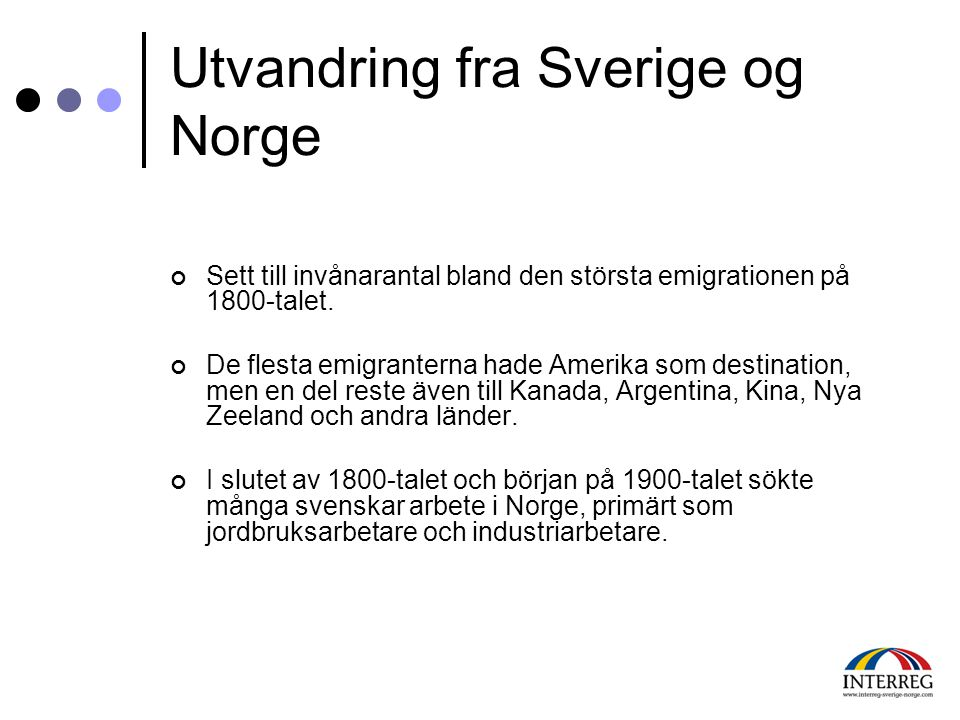 Utvandring fra Sverige og Norge