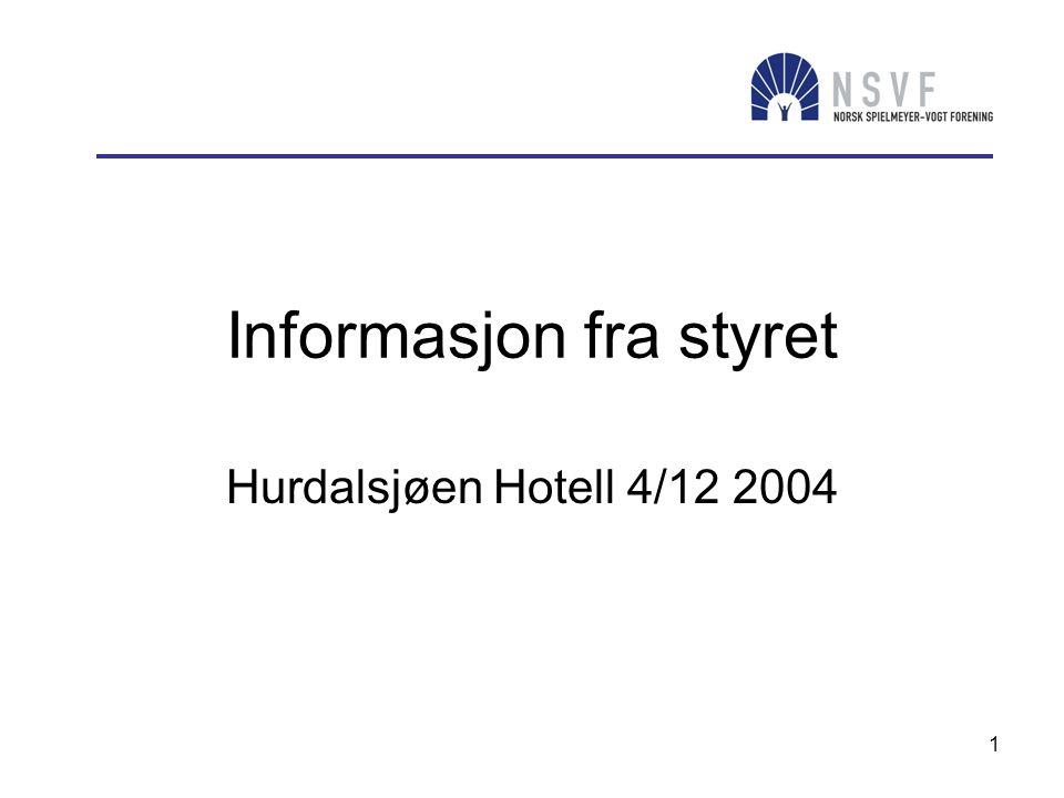 Informasjon fra styret