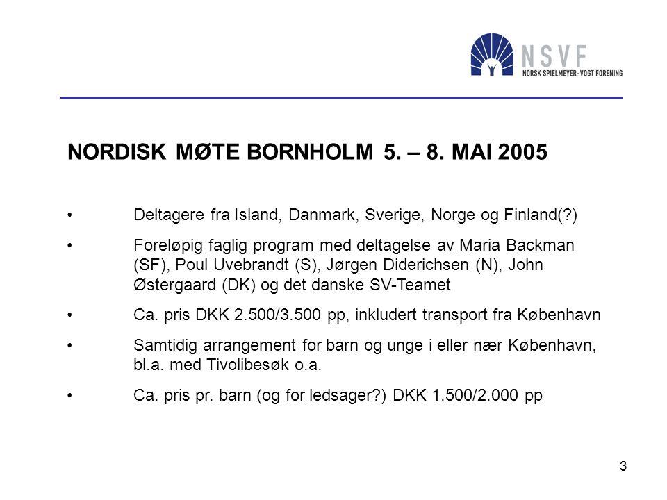 NORDISK MØTE BORNHOLM 5. – 8. MAI 2005