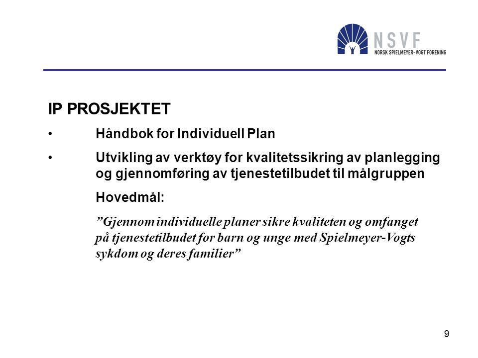 IP PROSJEKTET Håndbok for Individuell Plan