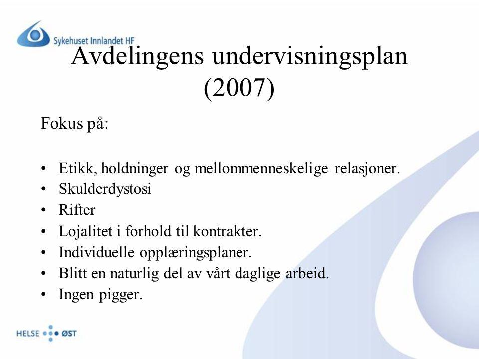 Avdelingens undervisningsplan (2007)