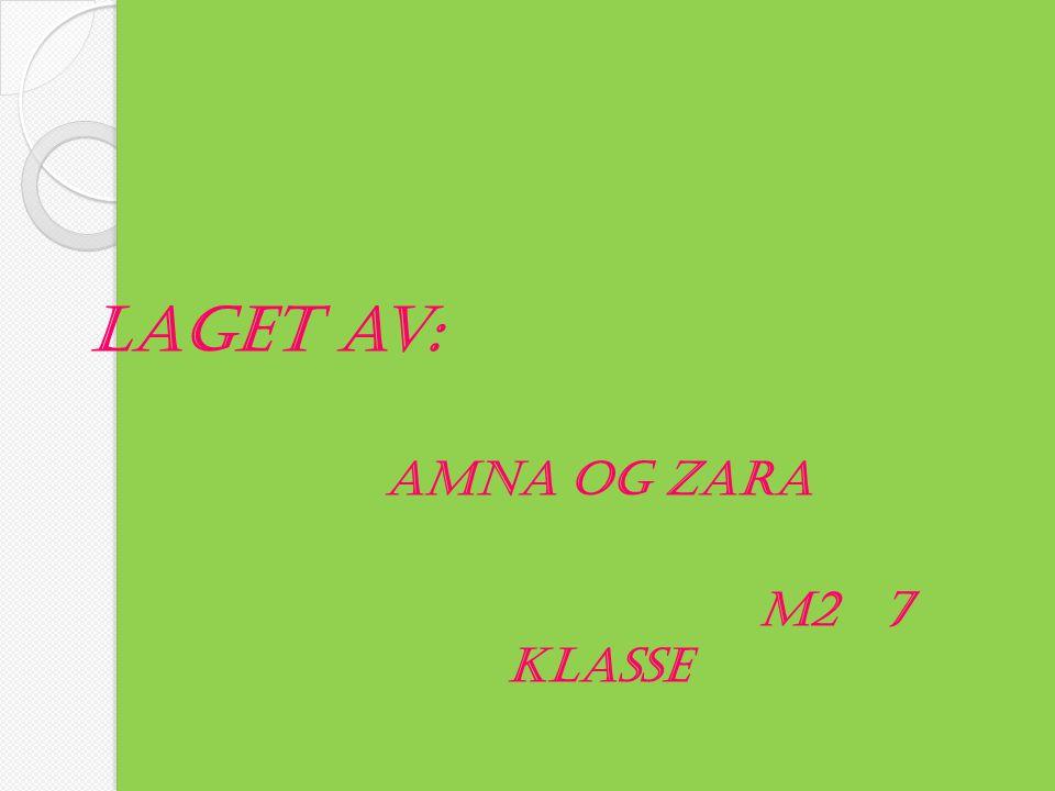 Laget av: Amna og Zara M2 7 klasse