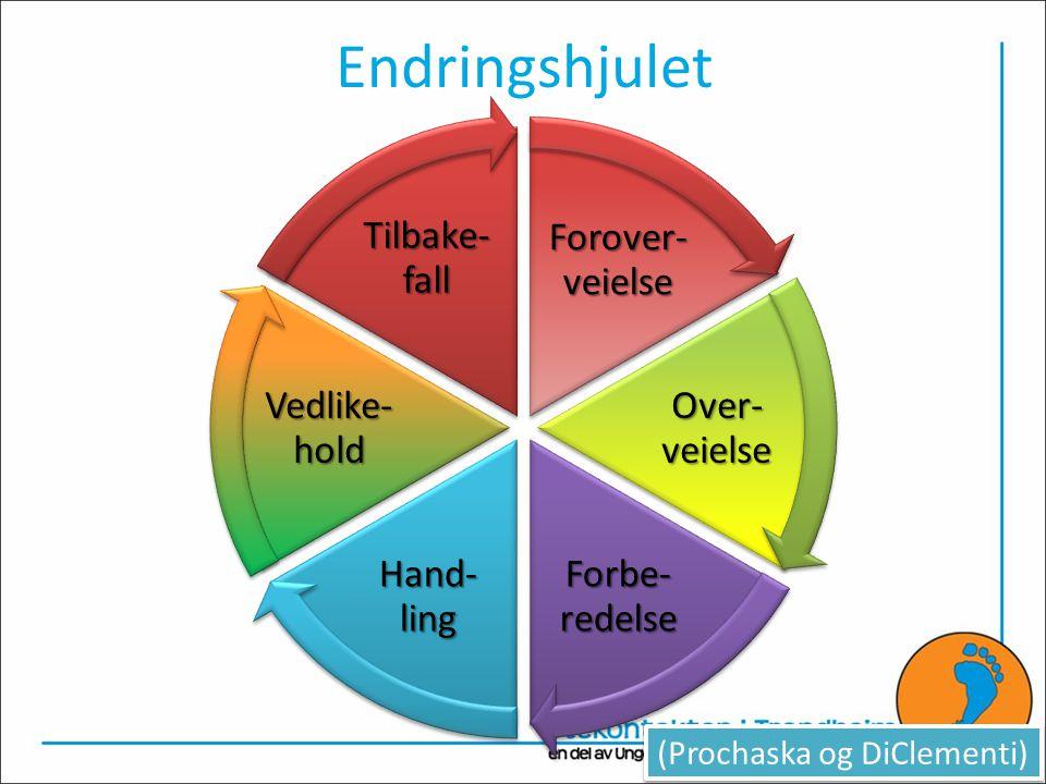 Endringshjulet Forover-veielse Over-veielse Forbe-redelse Hand-ling