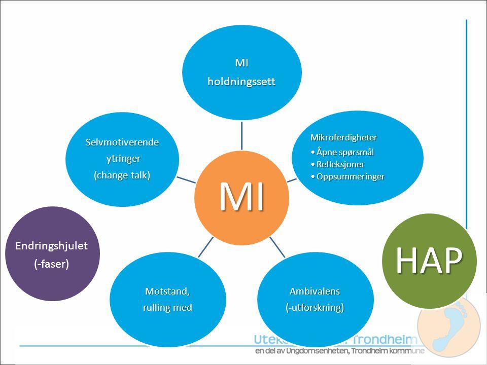 HAP HAP holdningssett Endringshjulet (-faser) Mikroferdigheter