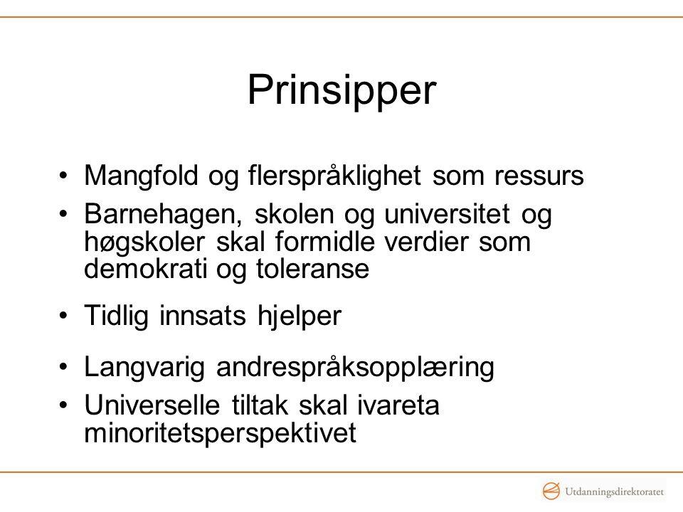 Prinsipper Mangfold og flerspråklighet som ressurs