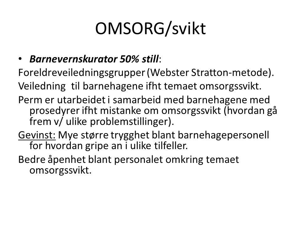 OMSORG/svikt Barnevernskurator 50% still: