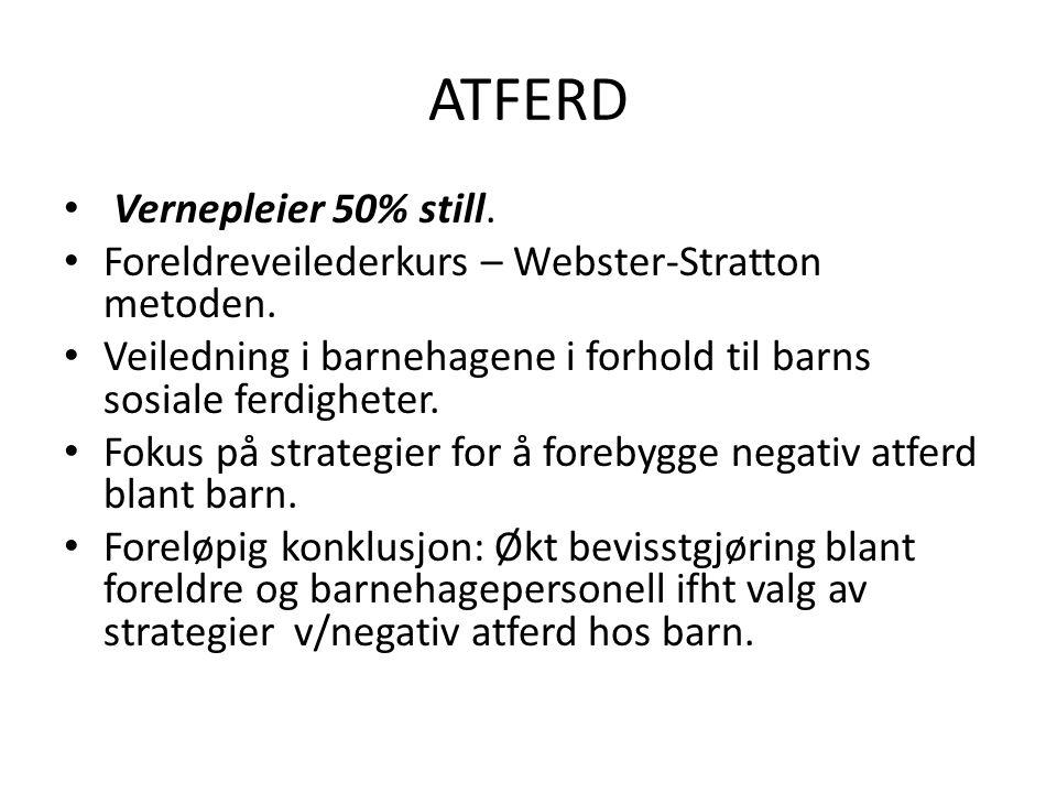 ATFERD Vernepleier 50% still.