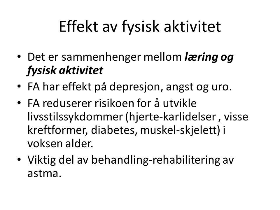 Effekt av fysisk aktivitet