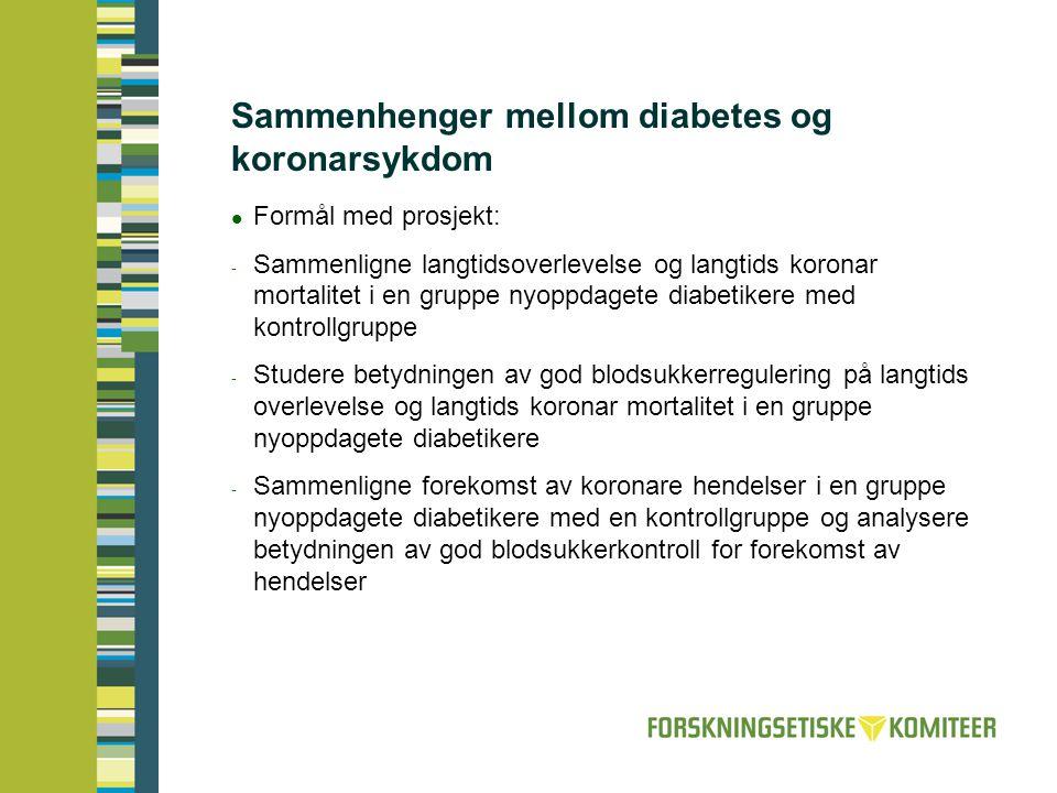 Sammenhenger mellom diabetes og koronarsykdom