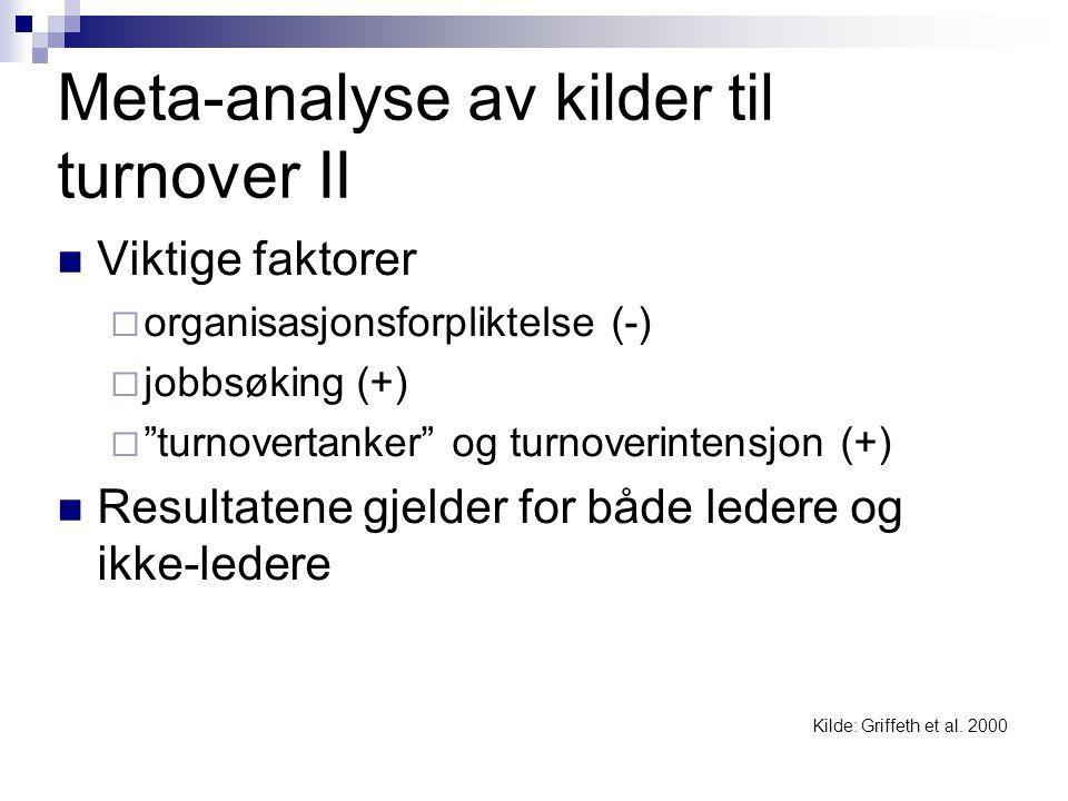 Meta-analyse av kilder til turnover II
