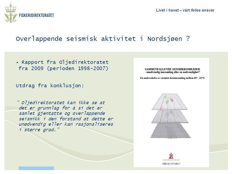 Overlappende seismisk aktivitet i Nordsjøen