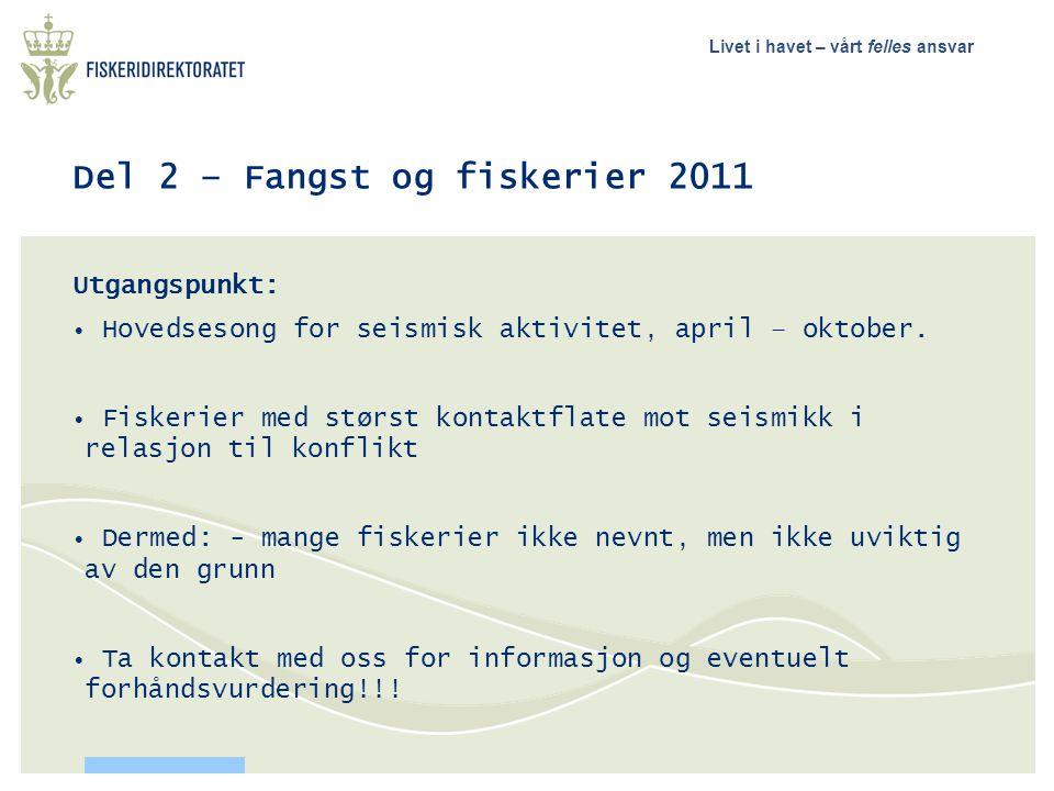 Del 2 – Fangst og fiskerier 2011