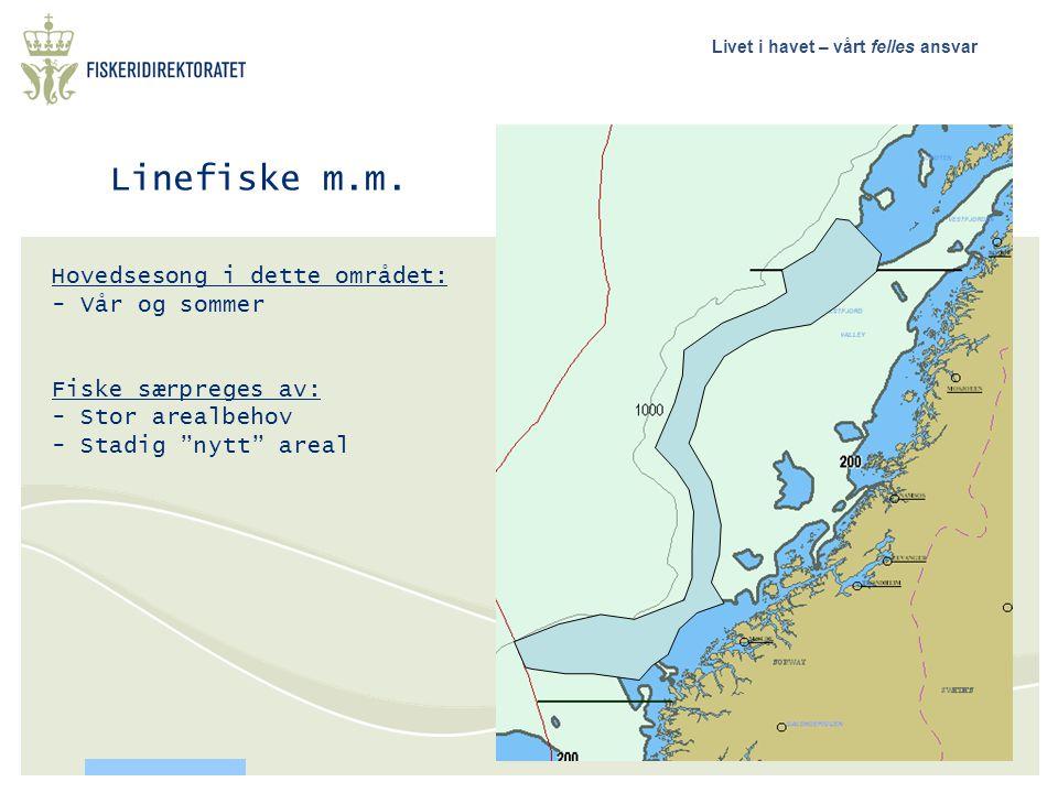 Linefiske m.m. Hovedsesong i dette området: Vår og sommer