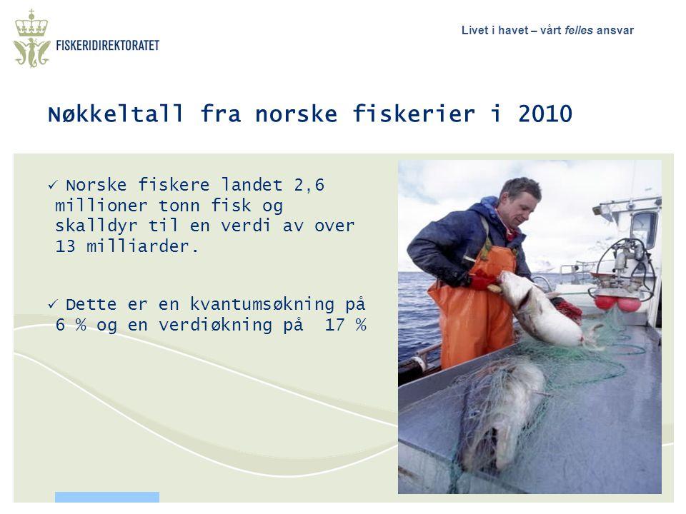 Nøkkeltall fra norske fiskerier i 2010