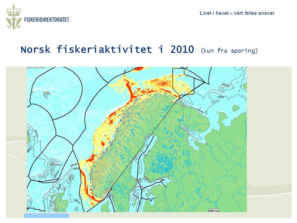 Norsk fiskeriaktivitet i 2010 (kun fra sporing)
