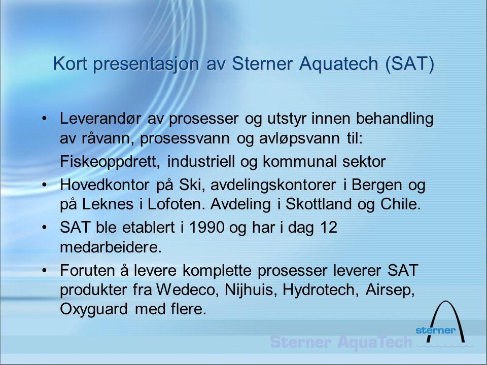 Kort presentasjon av Sterner Aquatech (SAT)