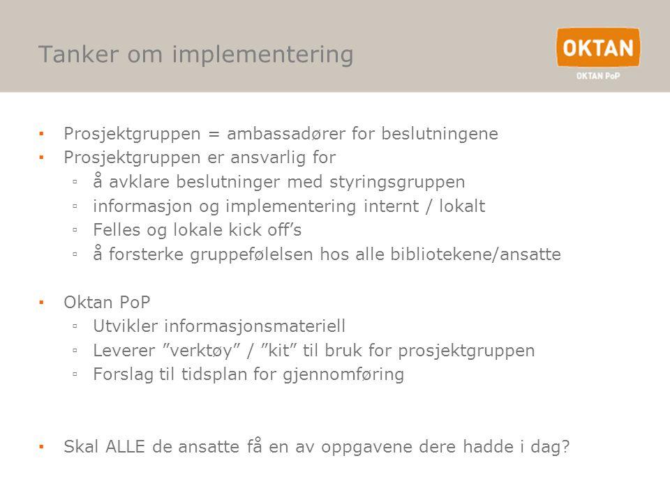 Tanker om implementering