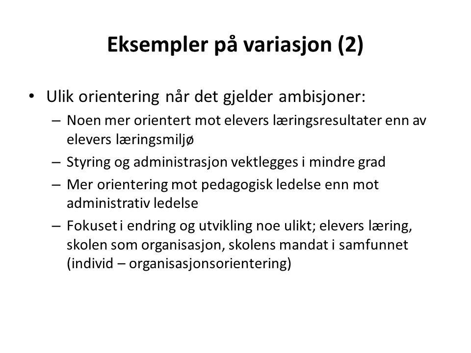 Eksempler på variasjon (2)