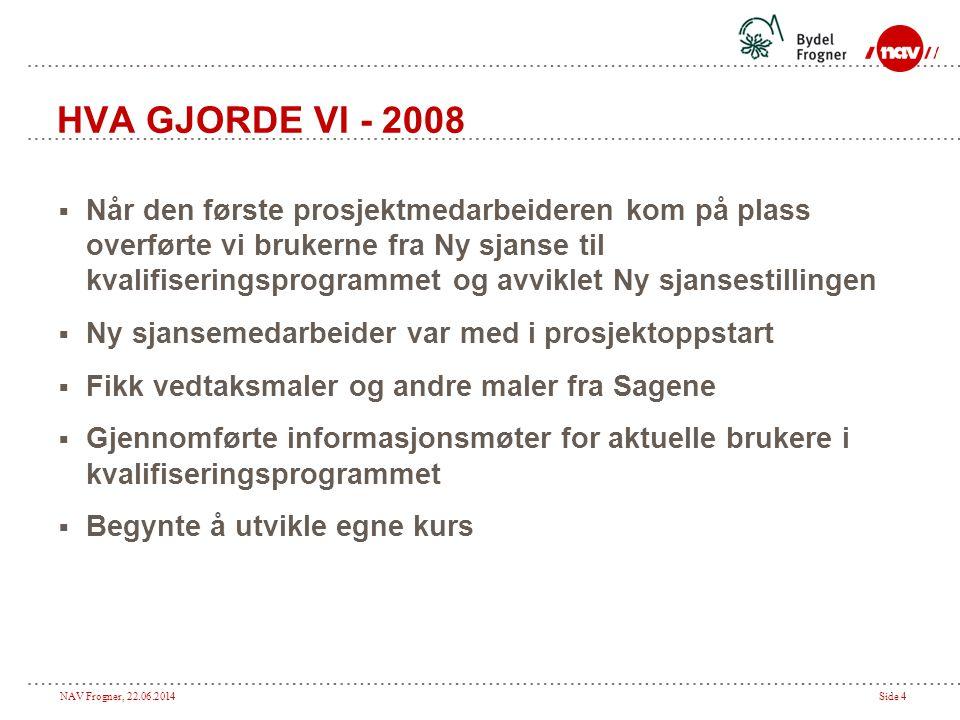 HVA GJORDE VI - 2008