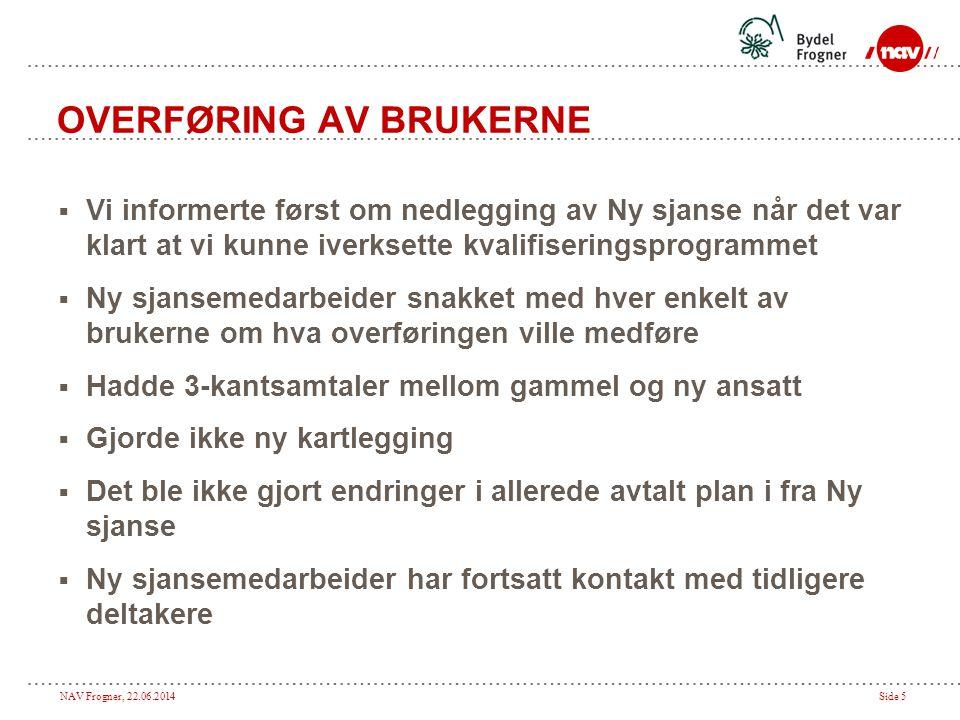 OVERFØRING AV BRUKERNE