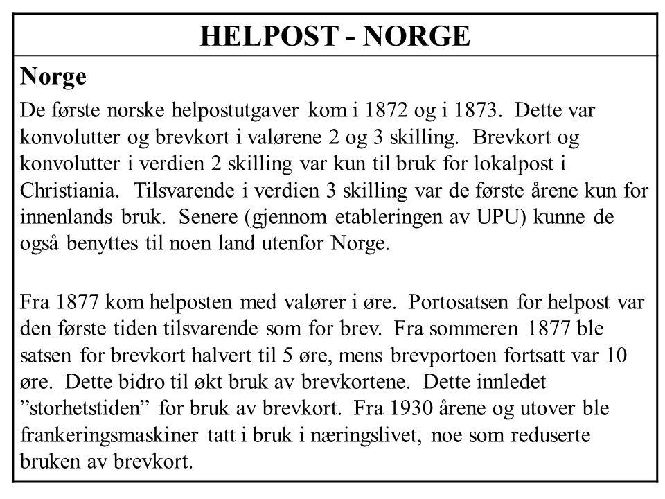 HELPOST - NORGE Norge.