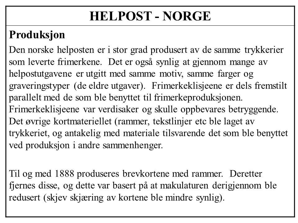 HELPOST - NORGE Produksjon