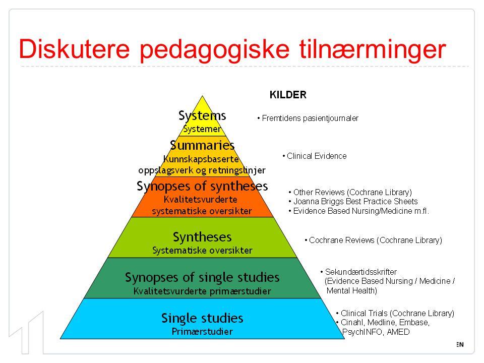Diskutere pedagogiske tilnærminger