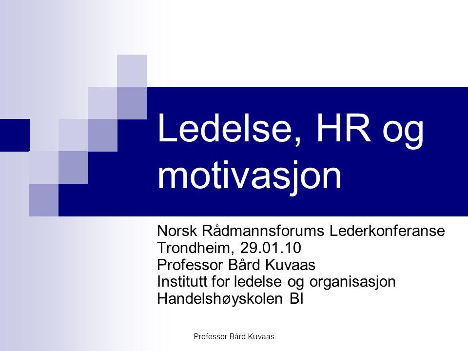 Ledelse, HR og motivasjon
