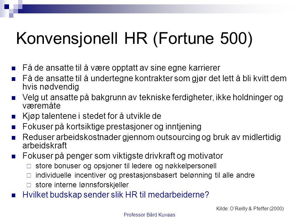Konvensjonell HR (Fortune 500)