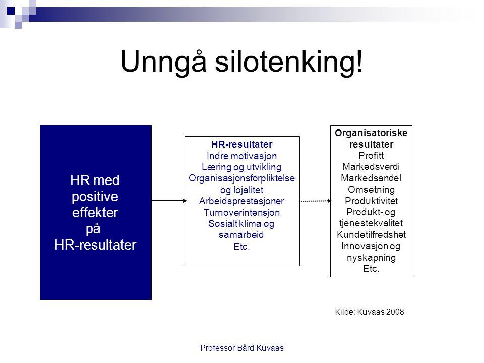 Unngå silotenking! HR med positive effekter på HR-resultater HR