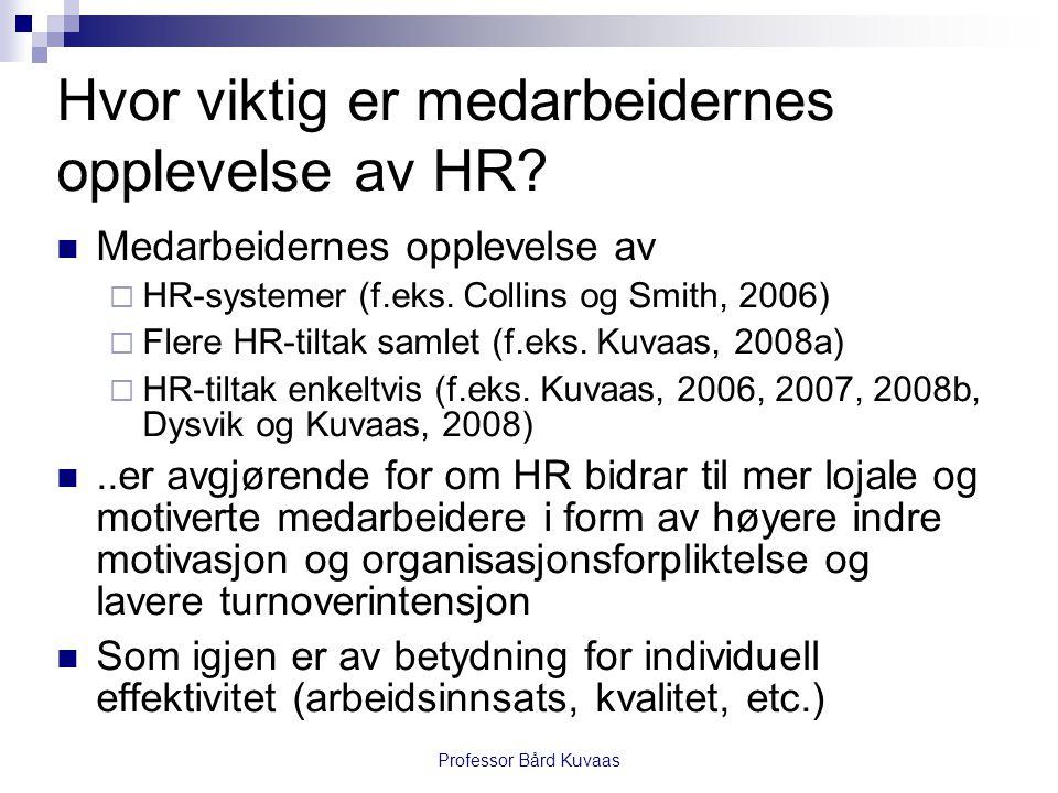 Hvor viktig er medarbeidernes opplevelse av HR