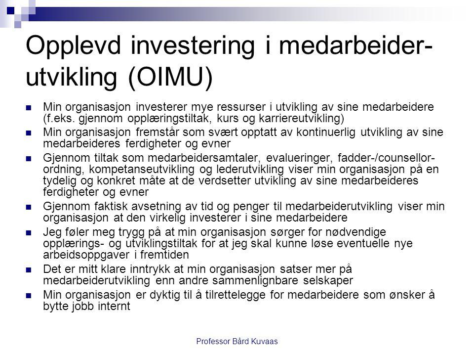 Opplevd investering i medarbeider-utvikling (OIMU)